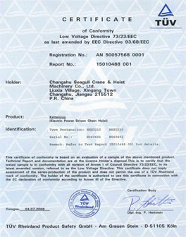 Electric-chain-hoist-CE-certification